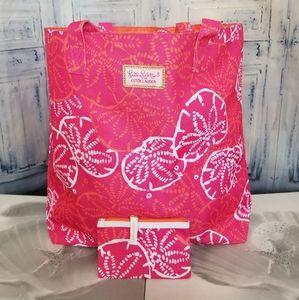 NewLilly Pulitzer Estee LaudeTote Bag & Pouch Set